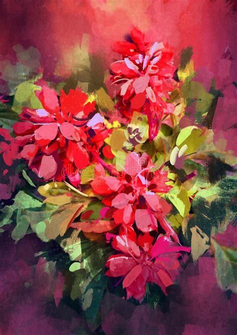 fiori astratti pittura pittura dei fiori astratti variopinti illustrazione di