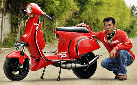 Modifikasi Vespa Balap Indonesia by Modifikasi Vespa Px 1982 Hasil Racikan Balap