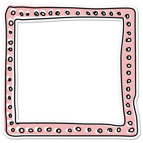 doodlebug frame yellow frame png element doodledpinkframe png 09 jun
