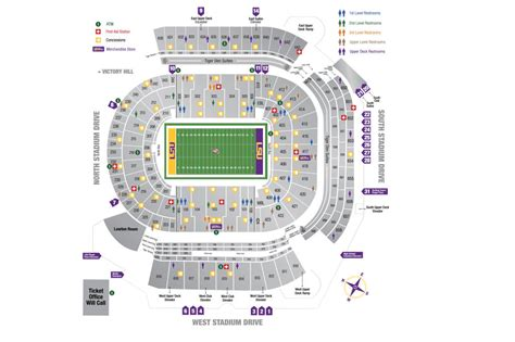 tiger seating lsu seating chart what sections are the