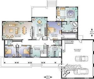 house plans with 2 separate attached garages house plan w3600 detail from drummondhouseplans com