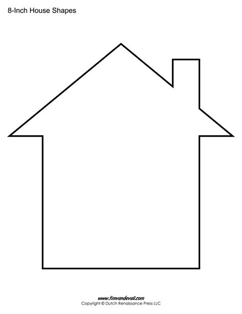 printable house template for house templates free blank house shape pdfs