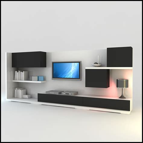 modern tv wall unit tv wall unit modern design x 15 3d models cgtrader com
