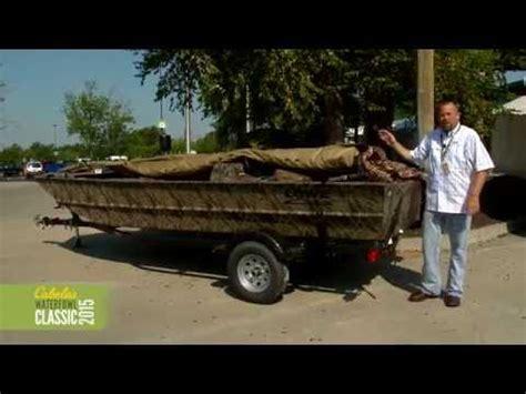 beavertail boat blind 2200 rock solid duck boat blind scissors kit on a 1448 jon boat