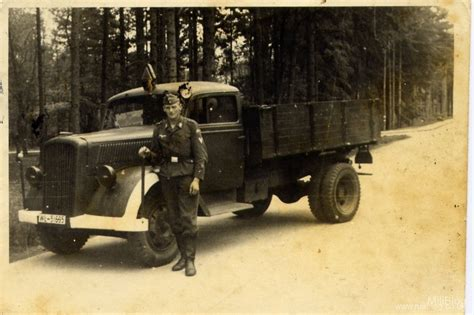 german opel blitz truck luftwaffe soldiers soldbuch complete with photograph for