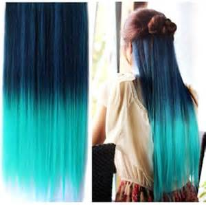 teal hair extensions teal blue ombre clip in hair extensions 28 quot