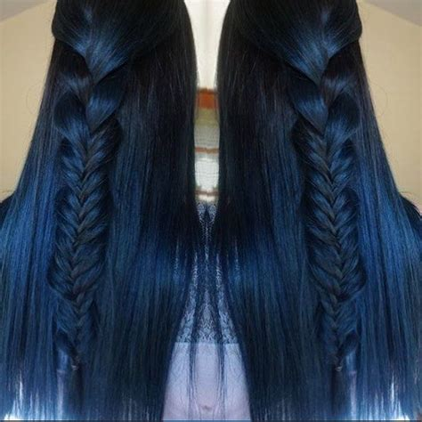 Brownish Blavk Hair With A Coiple Of Blue Braids For 10year Olds | the 25 best blue hair ideas on pinterest