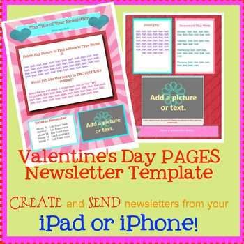 newsletter templates for pages ipad free valentine s day template create newsletters on your