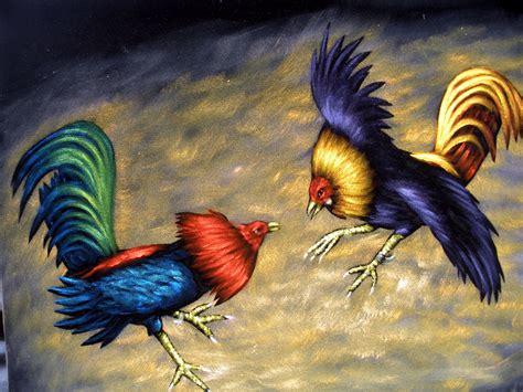 gallos d pelea pintura al oleo de pelea de gallos por mr zalas un