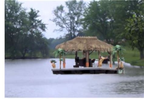 Floating Tiki Hut A Floating Island Or A Houseboat Dock