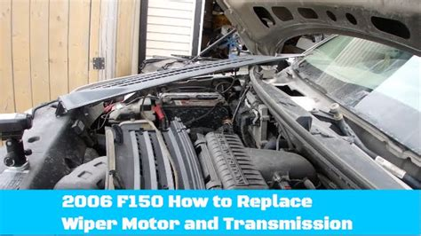 diy how to replace ford 150 wiper motor assembly youtube