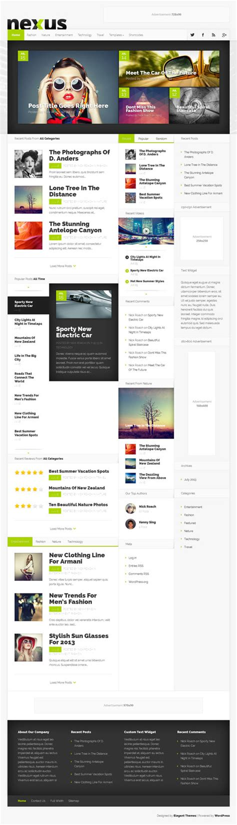 theme wordpress nexus nexus responsive magazine wordpress theme