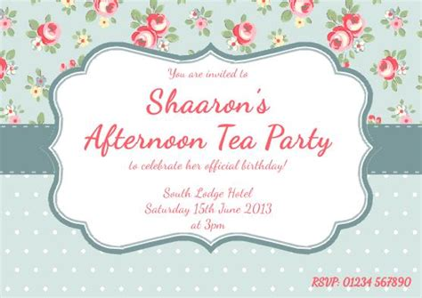 high tea invitation template a traditional celebration