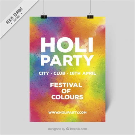 colorful posters colorful holi poster vector free