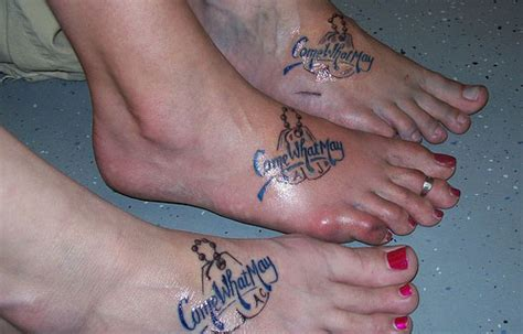 best friend foot tattoos ideas
