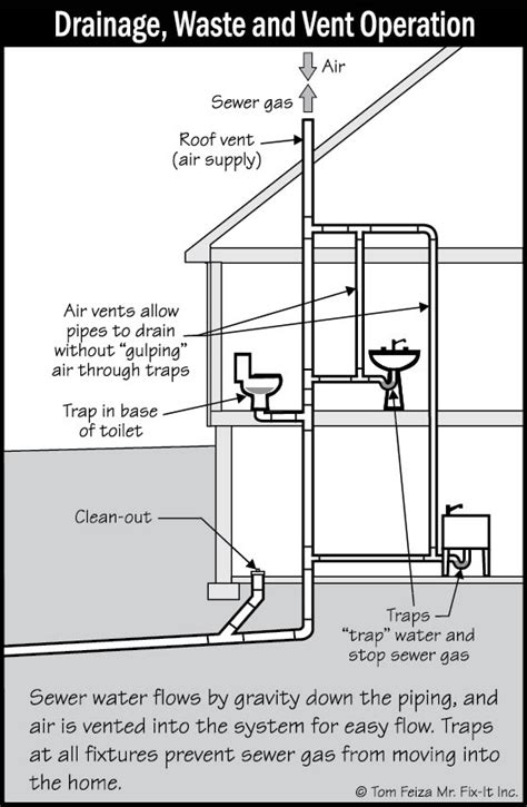 house plumbing system drain waste and ventilation or dwv maplesplumb com