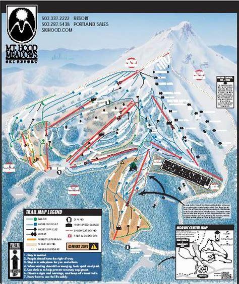 map of oregon ski resorts mt ski resort guide location map mt