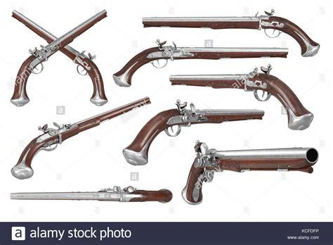 Gun Pistol Set flintlock pistol stock photos flintlock pistol stock