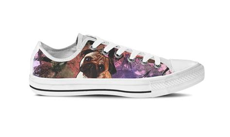 pug shoes for dogs pug shoes pug print canvas shoes from groove bags