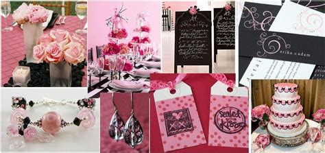 Pink And Black Wedding Ideas by Tbdress Pink And Black Wedding Ideas