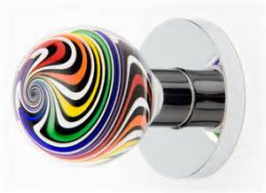 Decorative glass door knobs from out of the blue design studio motiq