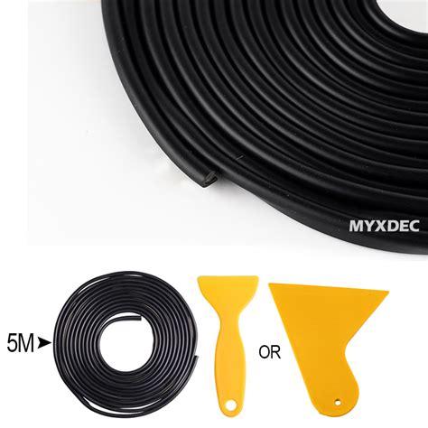 Stiker Dekorasi Interior Mobil 5m rubber dekorasi pintu mobil anti collision 5m black jakartanotebook