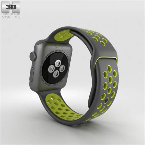 Istomp Nike Sports Band For Apple 42mm Black apple nike 42mm space gray aluminum black volt