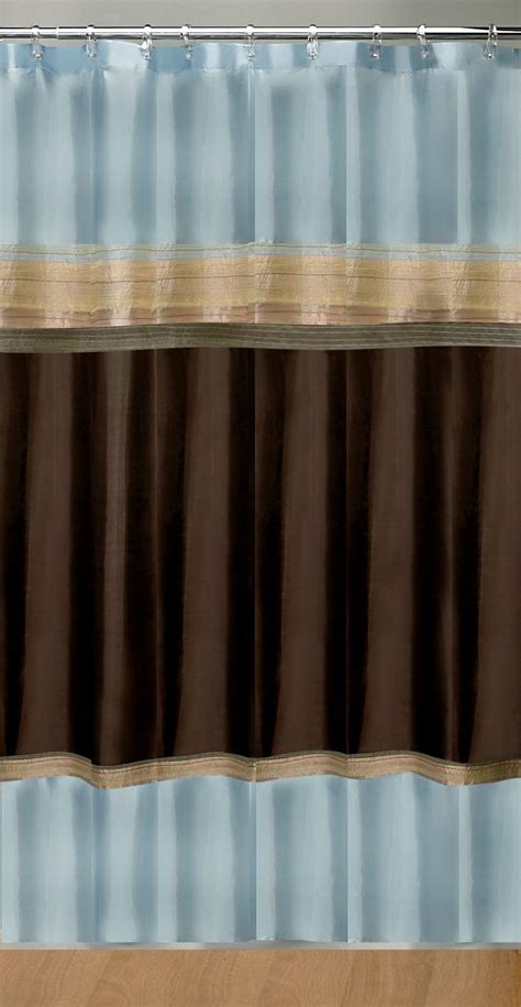 blue and brown shower curtain pin by diana claybrook on homey pinterest