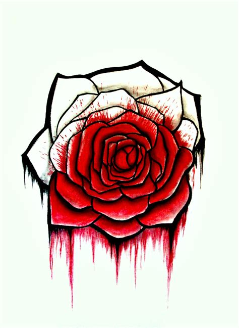 bloody rose by jenna danielle on deviantart