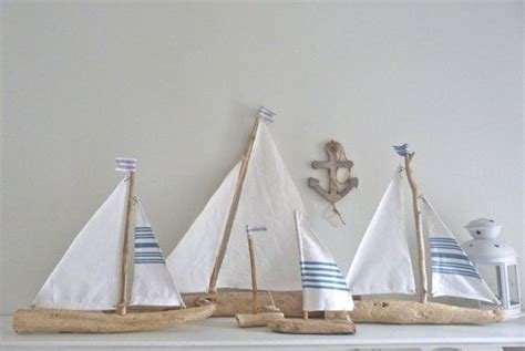 driftwood sailboat rustic nautical decor driftwood