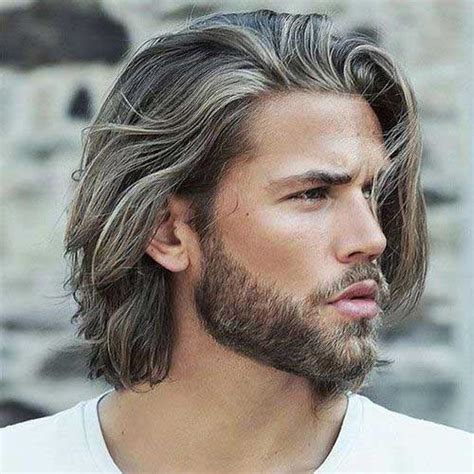 mens hairstyles mid length middle age mid long hairstyles male best hair style 2017