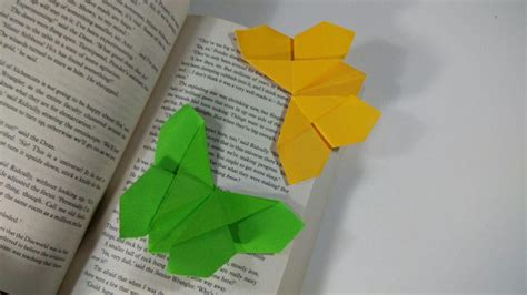 Origami Butterfly Bookmark - how to make a paper butterfly bookmark origami