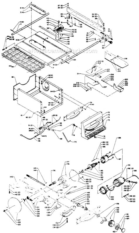 Delta 34 335 Parts List And Diagram Type 1 Rockwell Table Saw Parts