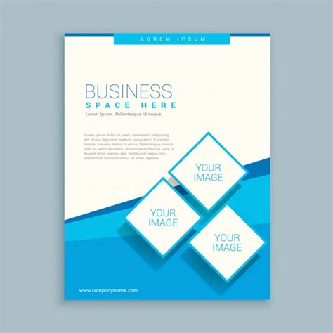 business flyer design vector free download abstract business brochure with rhombus vector free download