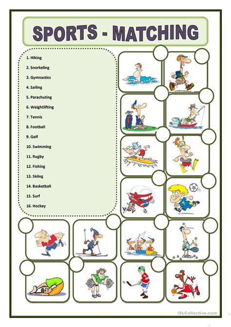 Sports Vocabulary Worksheet by Sports Worksheet Free Esl Printable Worksheets Made By