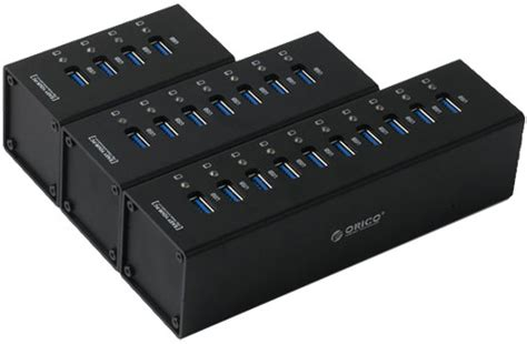 Usb Hub Orico 7 Port Usb3 0 orico superspeed usb 3 0 aluminum industrial external a3h series 10 7 and 4 port hubs with ps