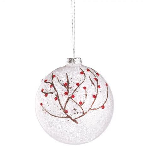 bola 225 rbol de navidad cristal transparente ramitas nevadas