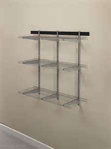 rubbermaid shelving systems rubbermaid fg5e21ftsnckl fast track garage organization