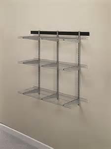 rubbermaid fasttrack garage storage system wire mesh shelf