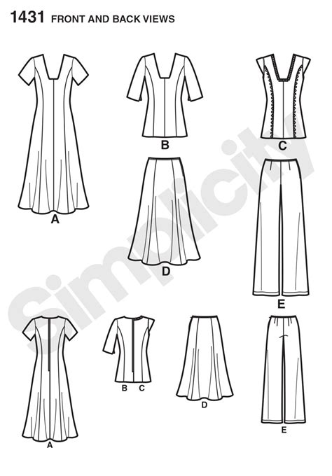 Pattern Review Best Patterns 2014 | simplicity 1431 misses and miss plus dress or tunic