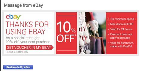 discount vouchers ebay just got a 10 discount voucher off ebay but can