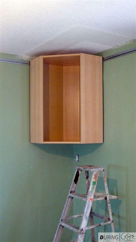 ikea corner wall cabinet installation installing ikea wall cabinets madness method
