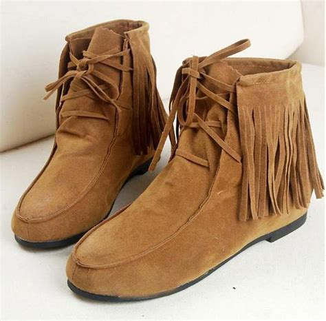 Winter Shoes Top Shoes With Fringe Tassels And Ruffles by Aliexpress Buy 2015 Autumn And Winter Tassel Boots