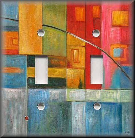 abstract art home decor light switch plate cover colorful abstract art modern