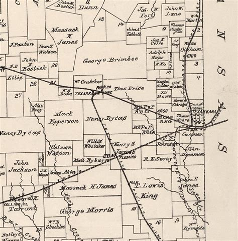 bowie county texas map bowie county texas historical map 1894