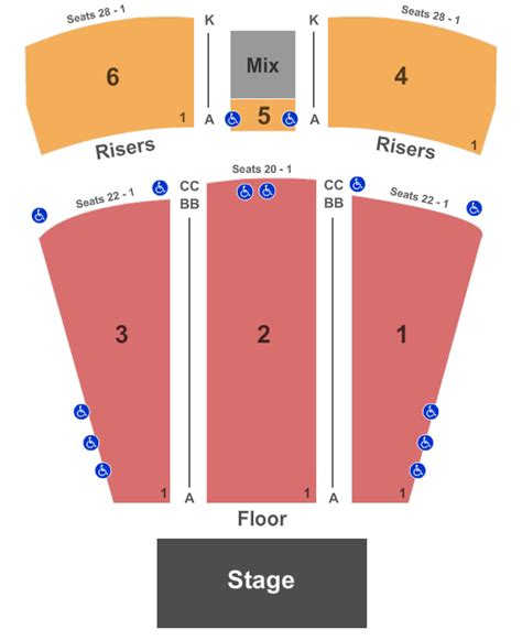 rock live seating chart northfield concert venues in northfield oh concertfix