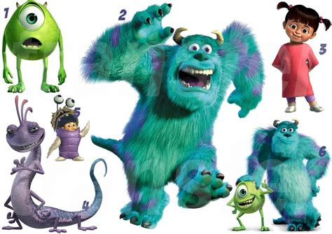 monsters inc wall stickers inc 1 iron on t shirt transfer or sticker wall