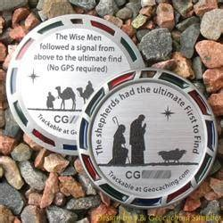 geocoin geomedals the christmas shepherds and magi