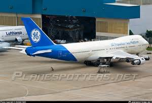Electric Car Shocks Boeing Jet N747ge General Electric Boeing 747 121 Photo By Zhang Yimo