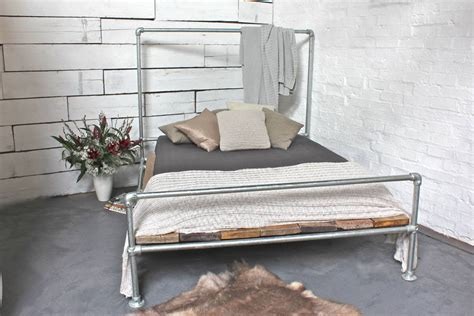 scaffolding bed frame reclaimed scaffolding board kingsize bed by